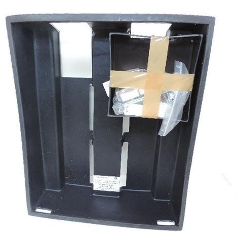 Coffret technique de logement plastique noir à encastrer 670x550x180mm 4 rangées + com et platine EDF sans porte SIB ADR P06204
