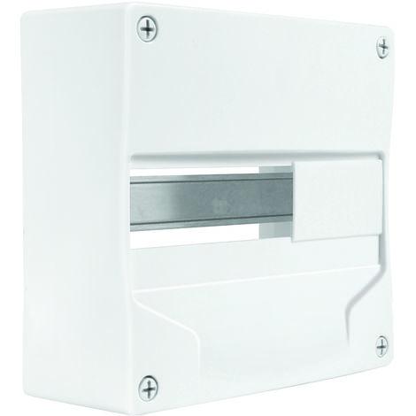 Coffret vide 1rail/13modules 230x232x94mm blanc - Debflex