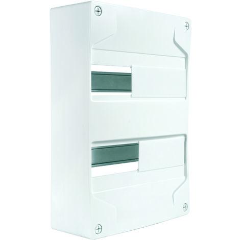 Coffret vide 2 rails/26 modules 240x357x94mm blanc - Debflex