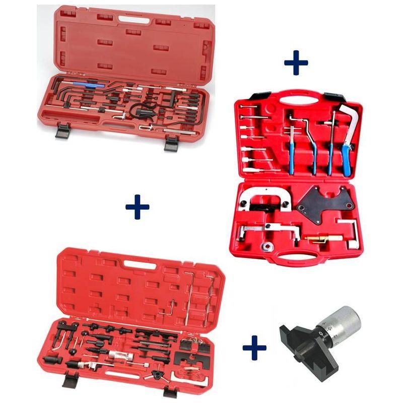 Equipement Express Sicoba - Coffrets calage Courroie Distribution PEUGEOT CITROEN + RENAULT + VW AUDI + Tensiomètre Jauge
