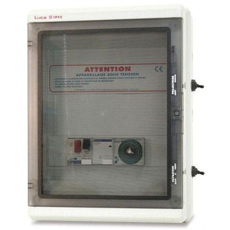 Coffrets Panorama - Coffret électrique: Filtration + surpresseur + Transfo 100 VA