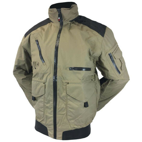 COFRA motor jacket - beige and green - Size 50