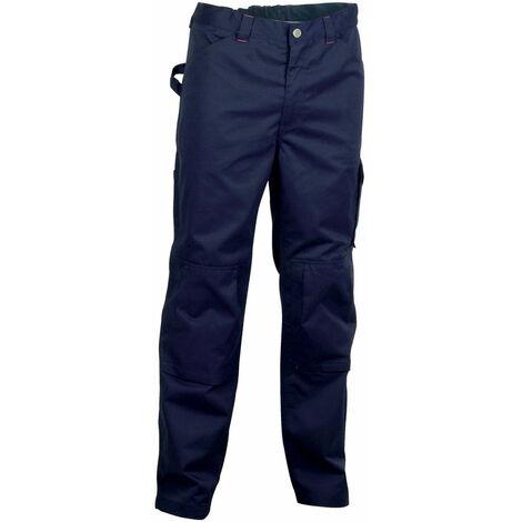 Cofra Sousse Pantaloni da lavoro in cotone con ginocchiera colore blu