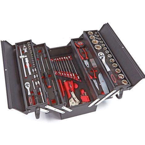 Cofre / caja de herramientas con modulos de EVA, 85 piezas