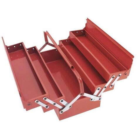 COGEX Caisse a outils vide metal 5 compartiments