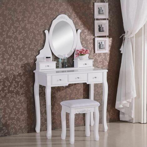 Coiffeuse avec miroir et tabouret MB6022cm