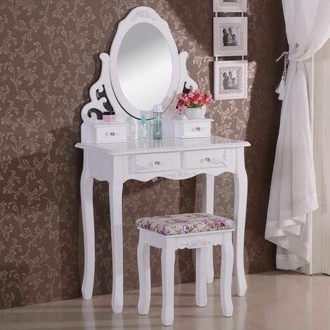 Coiffeuse avec miroir et tabouret MB6024cm