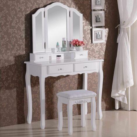 Coiffeuse avec miroir et tabouret MB6027cm