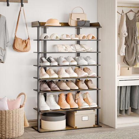 Coiffeuse avec Miroir, Grands Compartiments de Rangement et tiroirs, Natural&White, 80x40x114 cm