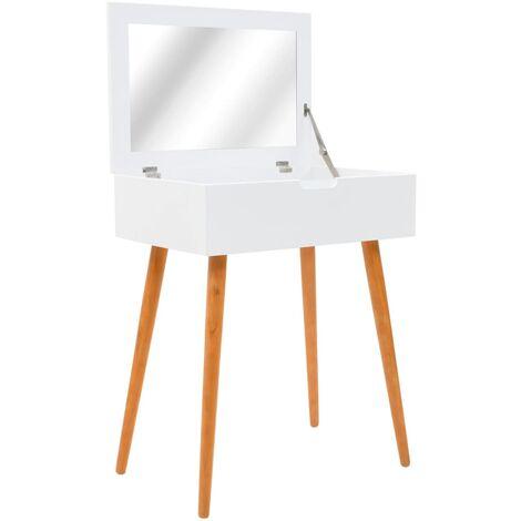 Coiffeuse avec miroir MDF 60 x 40 x 75 cm