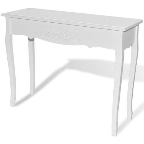 """main image of """"Coiffeuse table maquillage chambre salon meuble d'entrée blanche 100 x 35 cm - Blanc"""""""