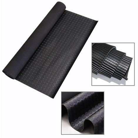Coin Corrugated Floor Mat Gym Garage Shed Flooring Rubber Matting