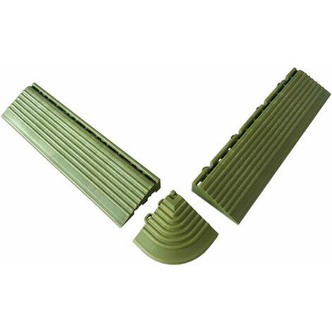 Coins et bordures verts pour dalles clipsables Dalle clipsable - Vert - Vert