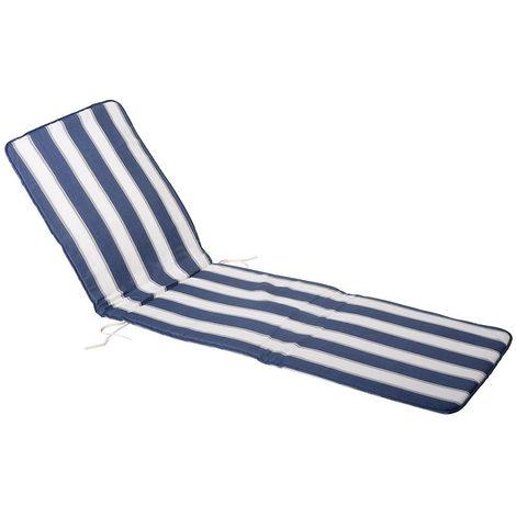 5a4dbcf7b Cojin Azul / Blanco Tumbona 189x58,5x2,5 cm. - 8435450402227