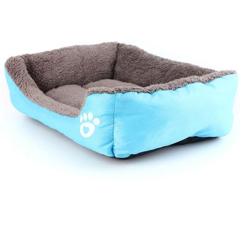 Cojín azul cesta de invierno para perros y gatos LAVENTE