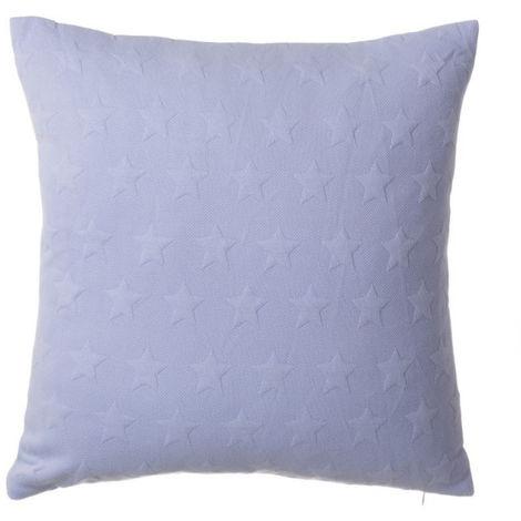 Cojín Azul Lavanda con relieve de estrellas - Hogar y más