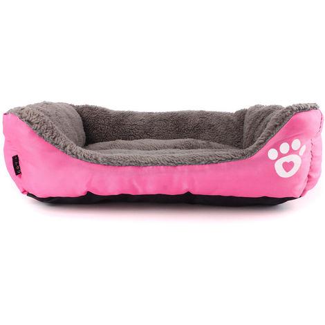 Cojín cesta rosa casa invierno para perros y gatos LAVENTE
