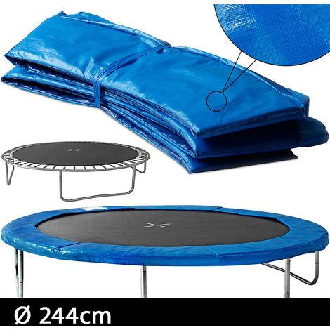 Cojín de protección para cama elástica 244cm azul