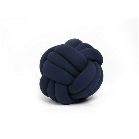 Cojin decorativo Knot - Tejido - para el sofa, la cama - Azul en Cuentas de algodon, lycra y fibra, 30 x 30 x 35 cm