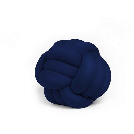 Cojin decorativo Knot - Tejido - para el sofa, la cama - Azul en Poliester, 30 x 30 x 35 cm