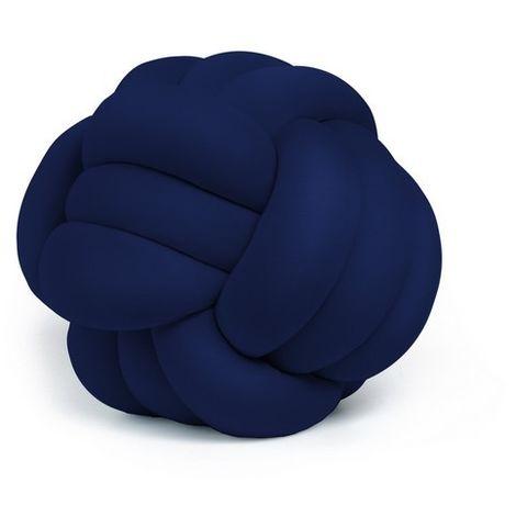 Cojin decorativo Knot - Tejido - para el sofa, la cama - Azul en Poliester, 45 x 45 x 42 cm