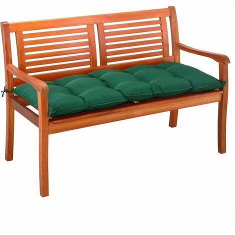 Cojín para banco acolchado 110x45x8cm cómodo almohadilla viscolástica Poliéster con correas jardín interior exterior