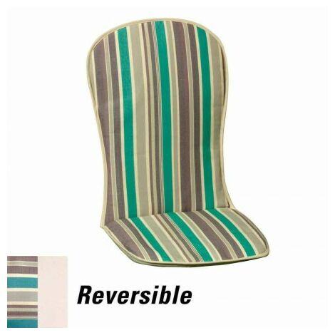 Cojín para sillón bajo 95x42x1,5 cm. rayas