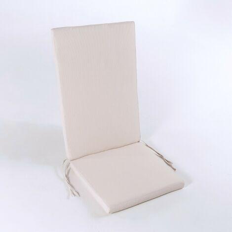 Cojin posiciones silla de teca para jardin lux capuccino