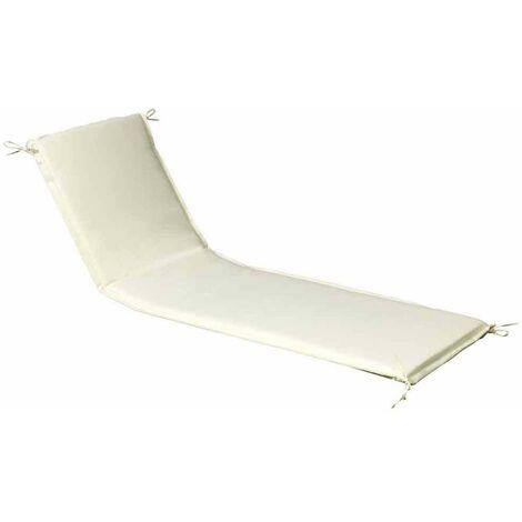 Cojin Para Tumbona 200x65x5 cm. Beige Desenfundable