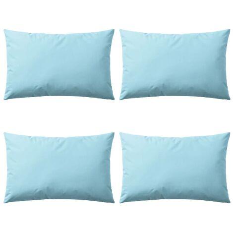 Cojines para exteriores 60x40 cm azul claro 4 unidades