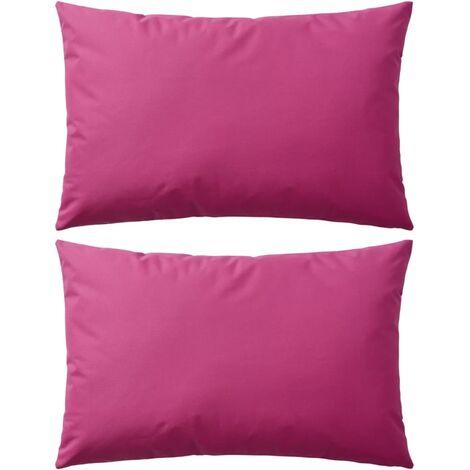 Cojines para exteriores 60x40 cm rosa 2 unidades
