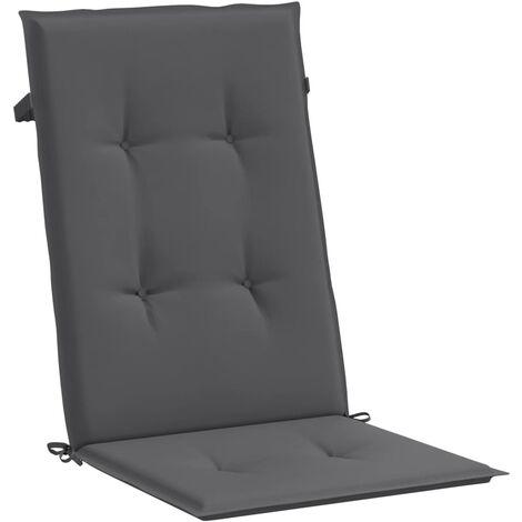 Cojines para sillas de jardín 2 unidades antracita 120x50x3 cm