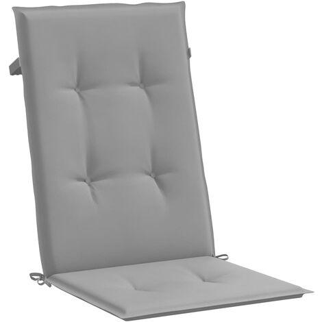 Cojines para sillas de jardín 2 unidades grises 120x50x3 cm