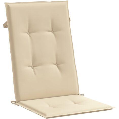 Cojines para sillas de jardín 4 unidades beige 120x50x3 cm