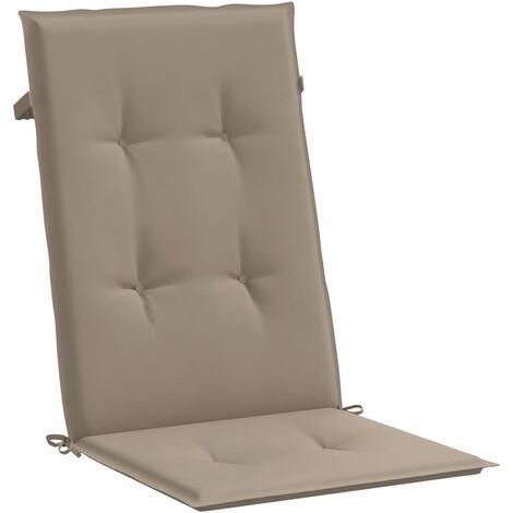 Cojines para sillas de jardín 4 unidades gris topo 120x50x3 cm