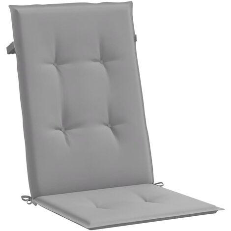 Cojines para sillas de jardín 4 unidades grises 120x50x3 cm