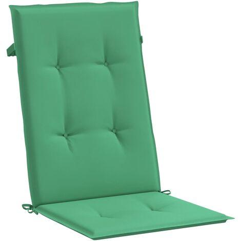 Cojines para sillas de jardín 4 unidades verdes 120 x 50 x 3 cm