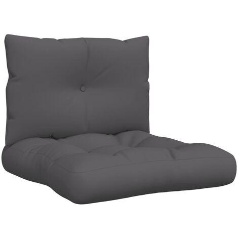 Cojines para sofás de palés 2 piezas tela gris antracita