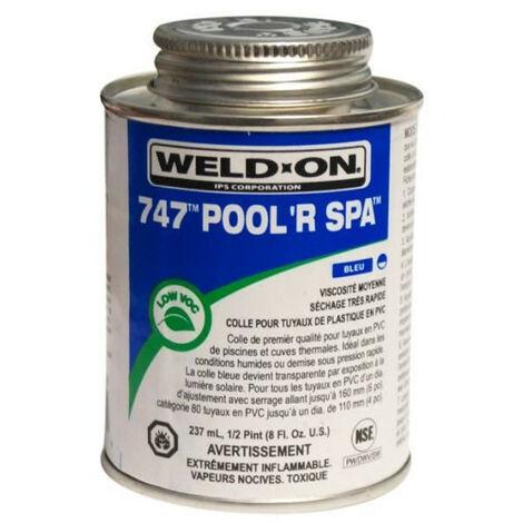 cola azul para tubos de PVC, bote IPS 237 ml.
