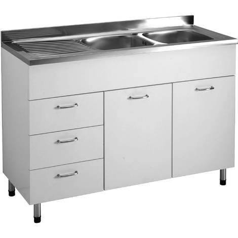 Lavello Cucina Con Sottolavello.Colavene Sottolavello Con Lavello Destra 120 Cm