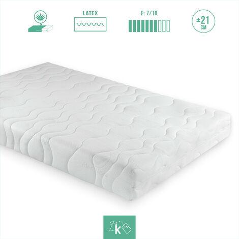 COLCHÓN 100% LATEX | Sistema 7 ZONAS | Desenfundable | Funda ALOE VERA | Especial para cama articulada