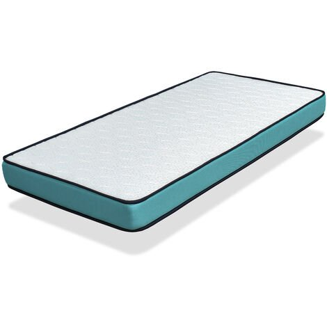Colchon 80X160 VISCOSOJA - ALTURA 18 CM -Viscoelástica- Refuerzo lumbar de latex