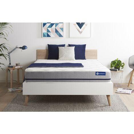 Colchón Actilatex soft 135x190cm, Grosor: 20 cm, Látex y espuma viscoelástica, Moderadamente firme, 3 zonas de confort