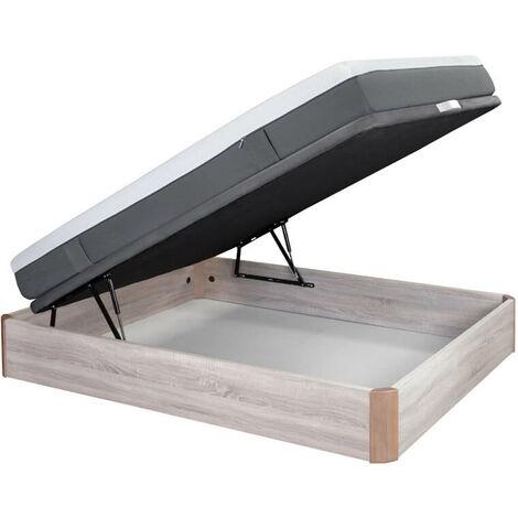Colchón Emma Original 25 cm confort alto + canapé abatible madera Emma varios colores altura 37 cm