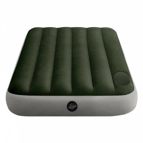 Colchón hinchable 1 plaza con bomba de pie Fiber-Tech Downy 99x191x25 cm (Intex 64761)