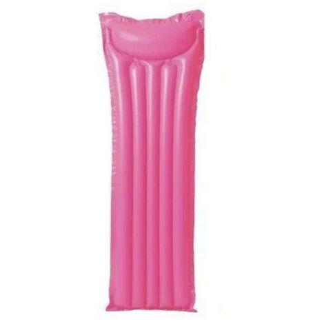 Colchón inflable de playa rosa - 183x69 cm