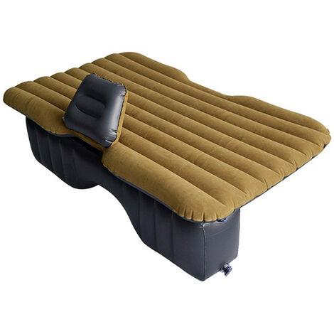 Colchón inflable de viaje de color caqui, asiento de cama de aire para acampar, sofá trasero universal para SUV