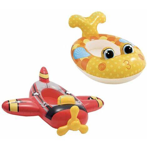 Colchón inflable para el modelo de avión infantil 119x107 cm - Colchón inflable para el modelo de pez infantil 117x76