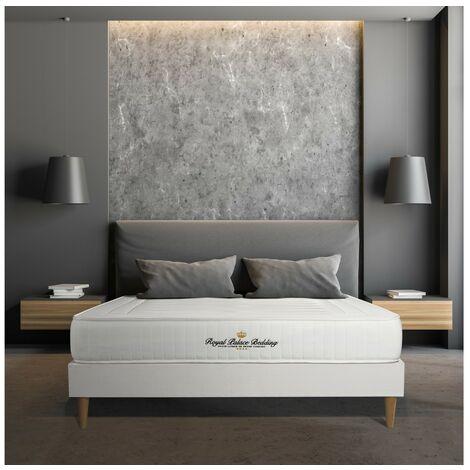 Colchón Nottingham 135x190 cm, grosor: 20 cm, espuma viscoelástica, Firme, 3 zonas de confort + SOMIER blanco