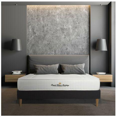 Colchón Nottingham 135x190 cm, grosor: 20 cm, espuma viscoelástica, Firme, 3 zonas de confort + SOMIER negro